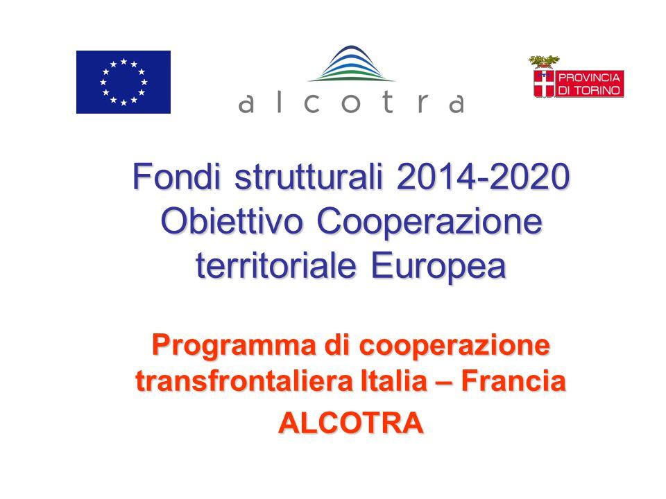 Programma di cooperazione transfrontaliera Italia – Francia ALCOTRA