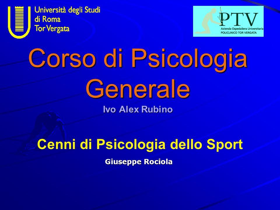 Corso di Psicologia Generale Ivo Alex Rubino