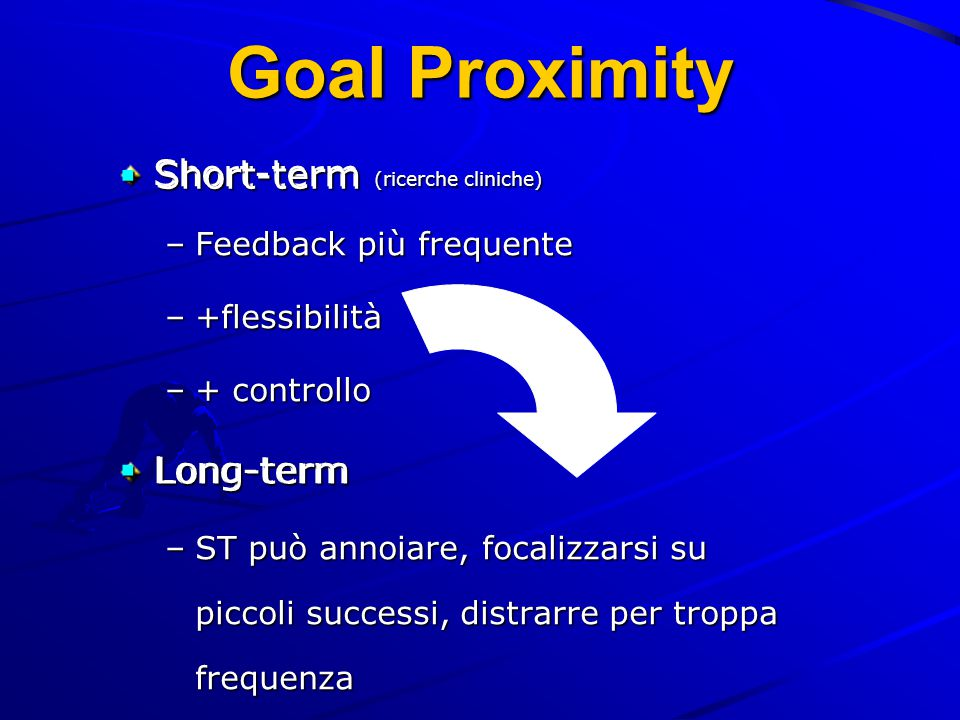 Goal Proximity Short-term (ricerche cliniche) Short-term Long-term