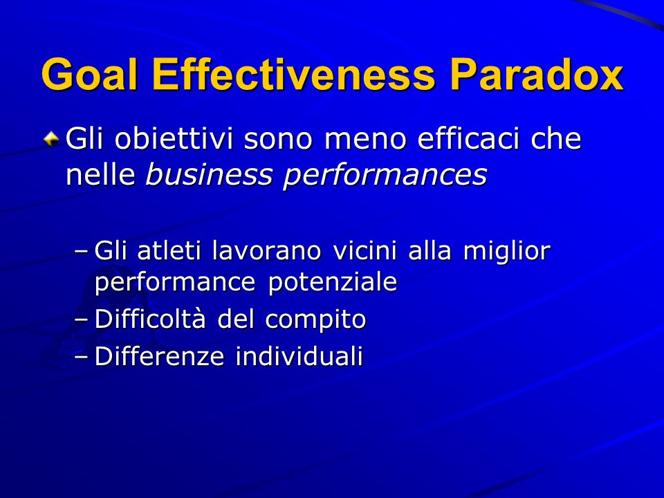 Goal Effectiveness Paradox