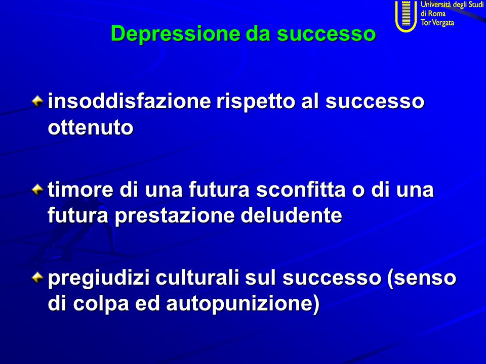 Depressione da successo