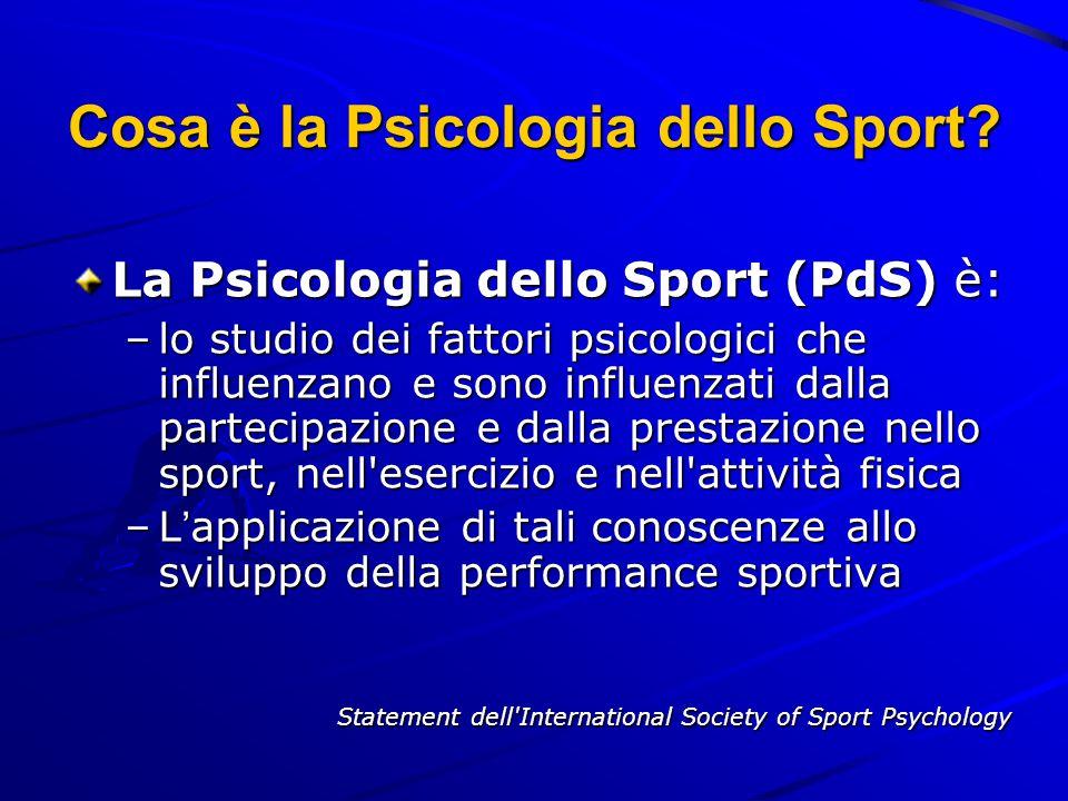 Cosa è la Psicologia dello Sport