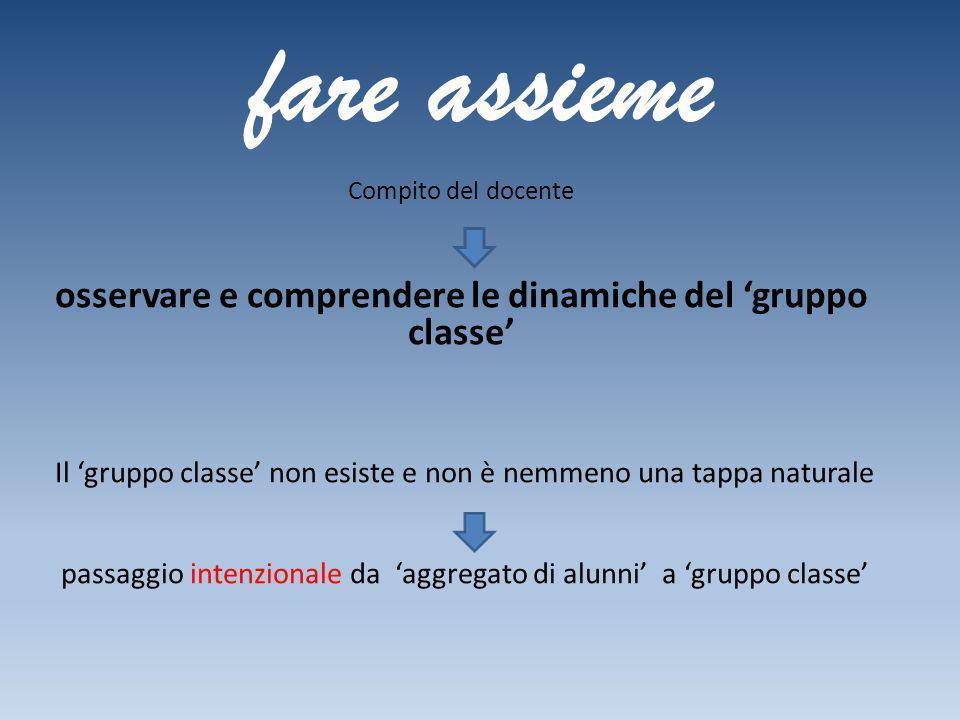 osservare e comprendere le dinamiche del 'gruppo classe'