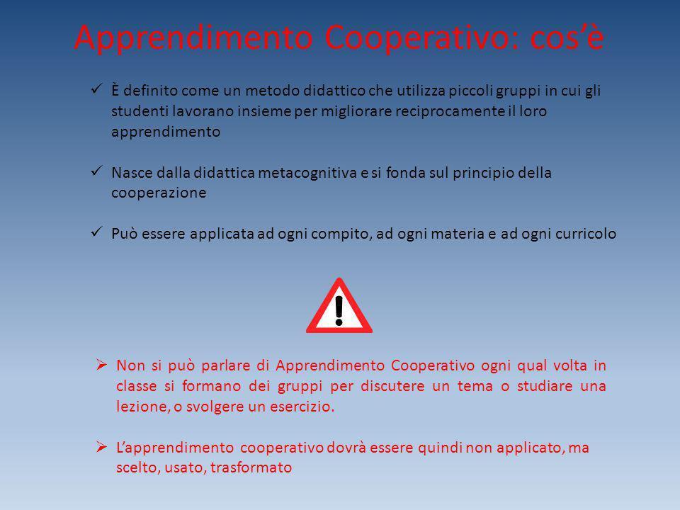 Apprendimento Cooperativo: cos'è