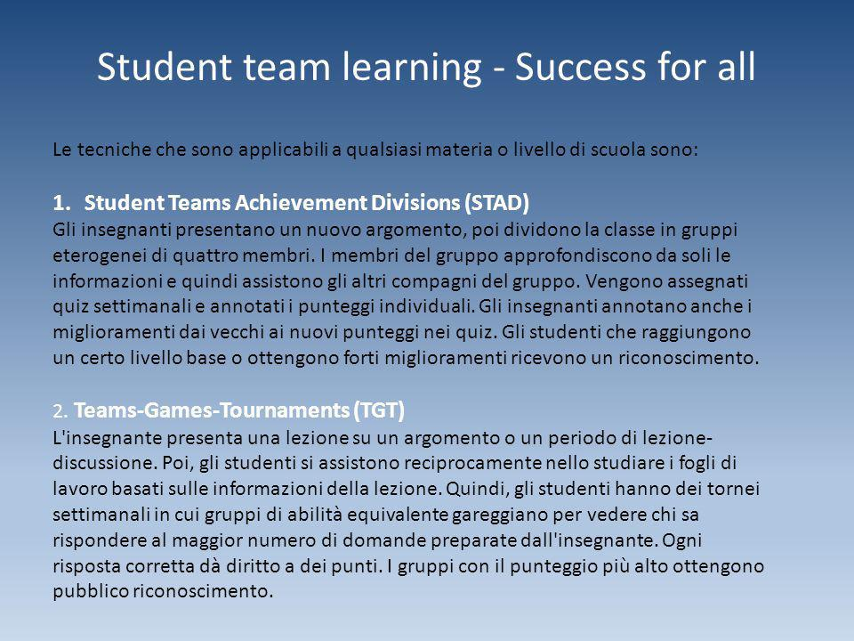 Student team learning - Success for all