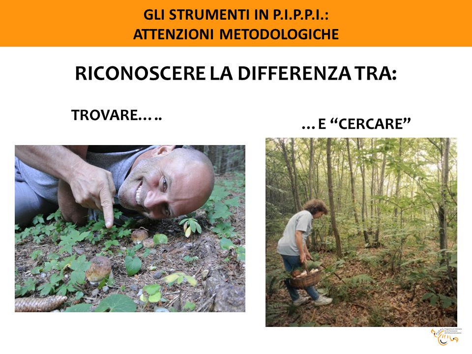 RICONOSCERE LA DIFFERENZA TRA: