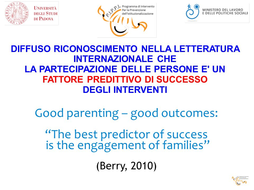 Good parenting – good outcomes: The best predictor of success