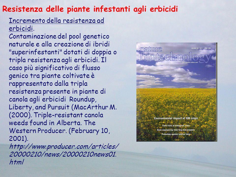 Resistenza delle piante infestanti agli erbicidi