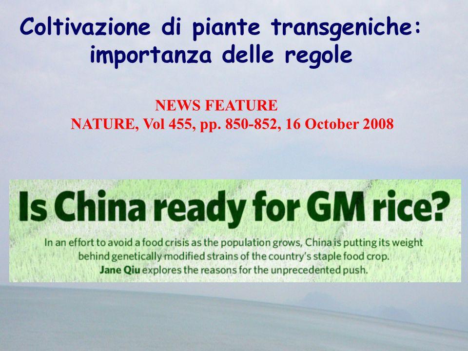 Coltivazione di piante transgeniche: importanza delle regole