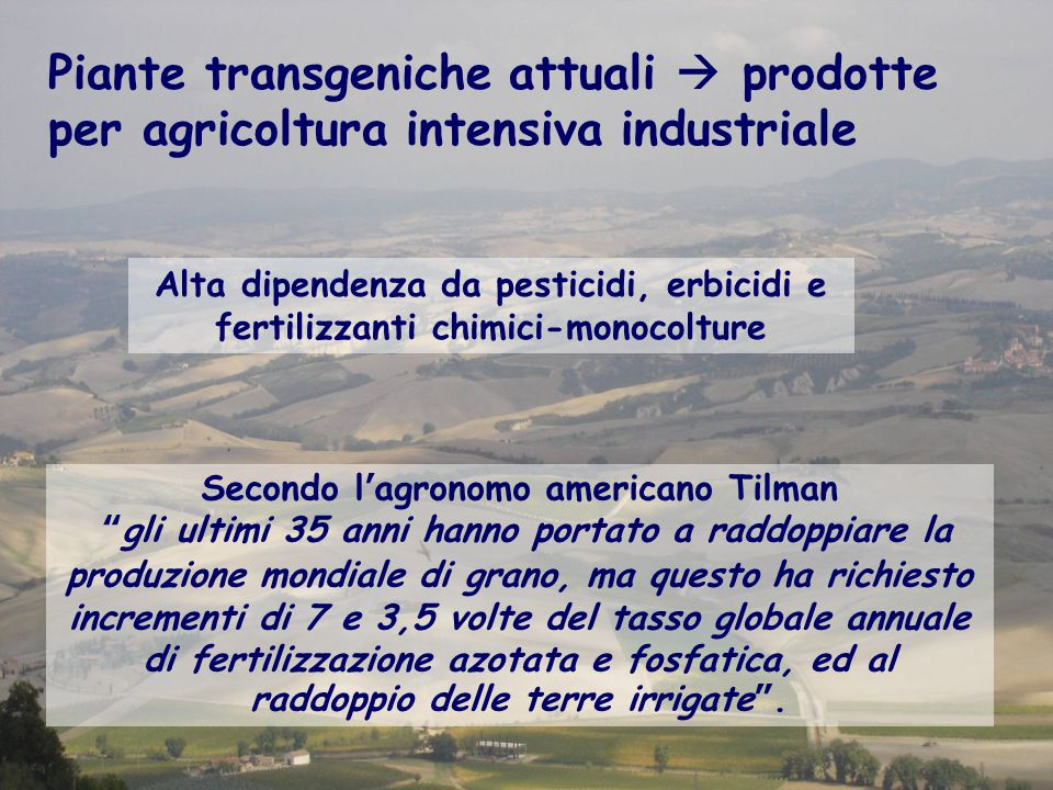 Secondo l'agronomo americano Tilman