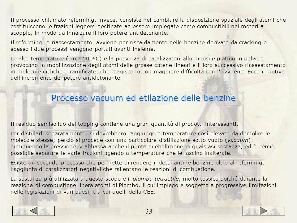 Processo vacuum ed etilazione delle benzine
