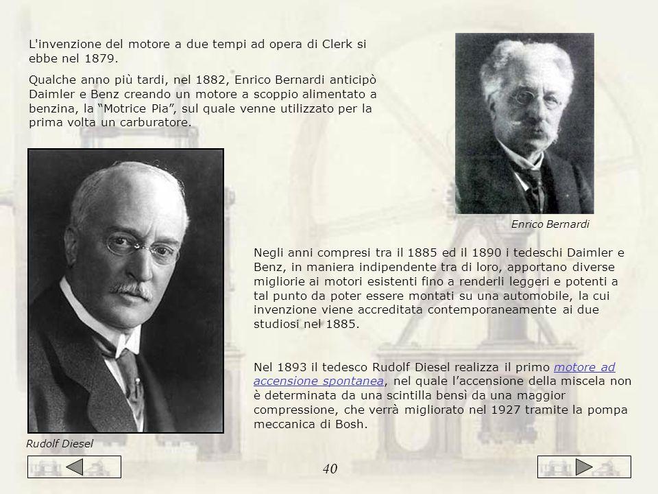 L invenzione del motore a due tempi ad opera di Clerk si ebbe nel 1879.