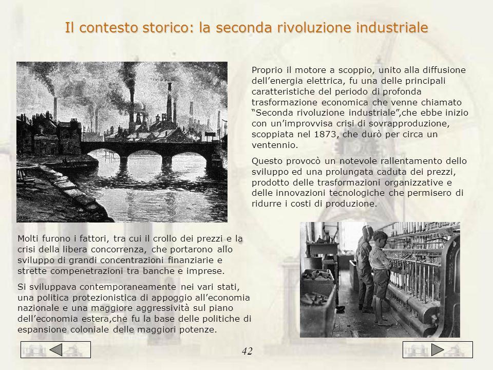 Il contesto storico: la seconda rivoluzione industriale