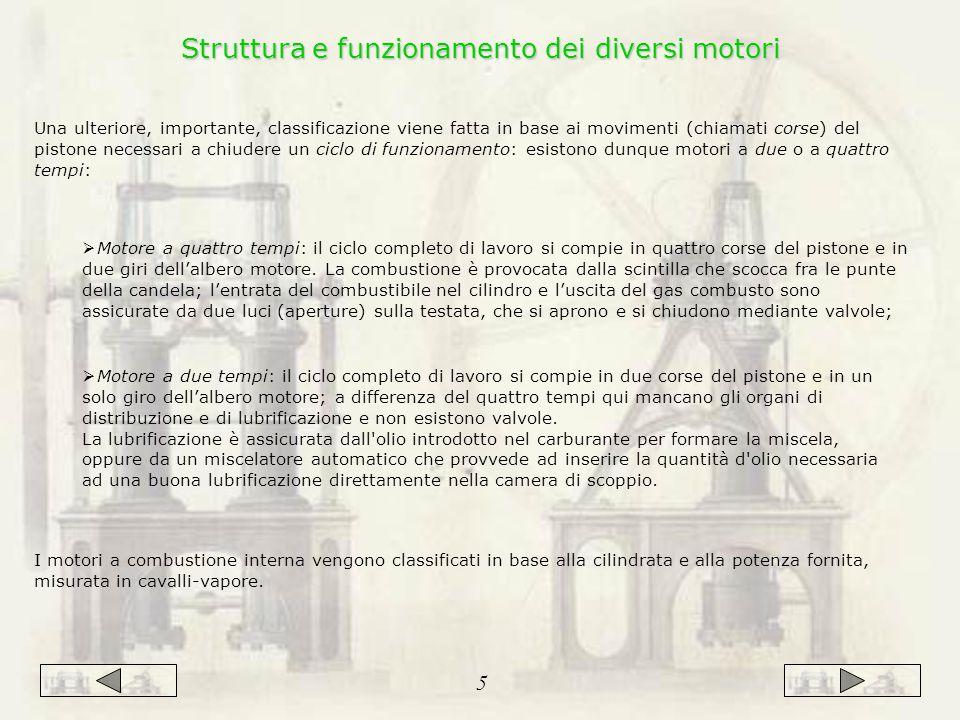 Struttura e funzionamento dei diversi motori