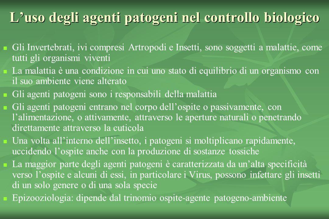 L'uso degli agenti patogeni nel controllo biologico
