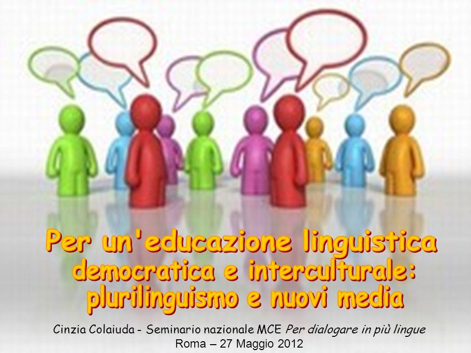 Per un educazione linguistica democratica e interculturale: