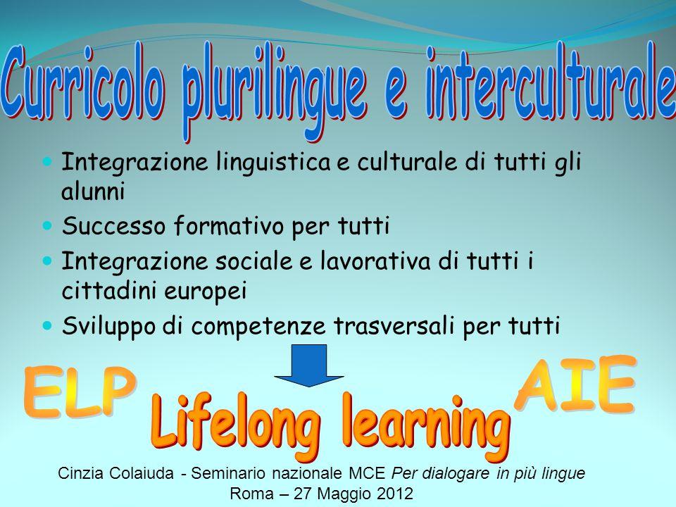 Curricolo plurilingue e interculturale
