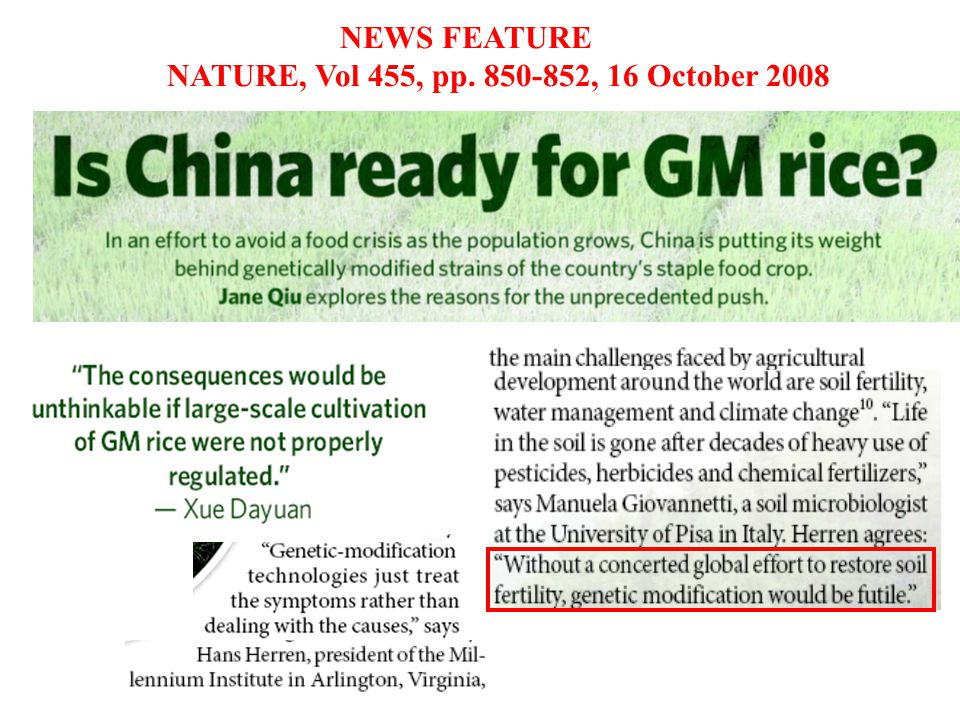 NEWS FEATURE NATURE, Vol 455, pp. 850-852, 16 October 2008