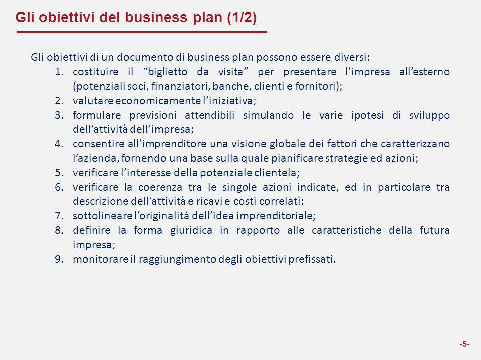 Gli obiettivi del business plan (1/2)