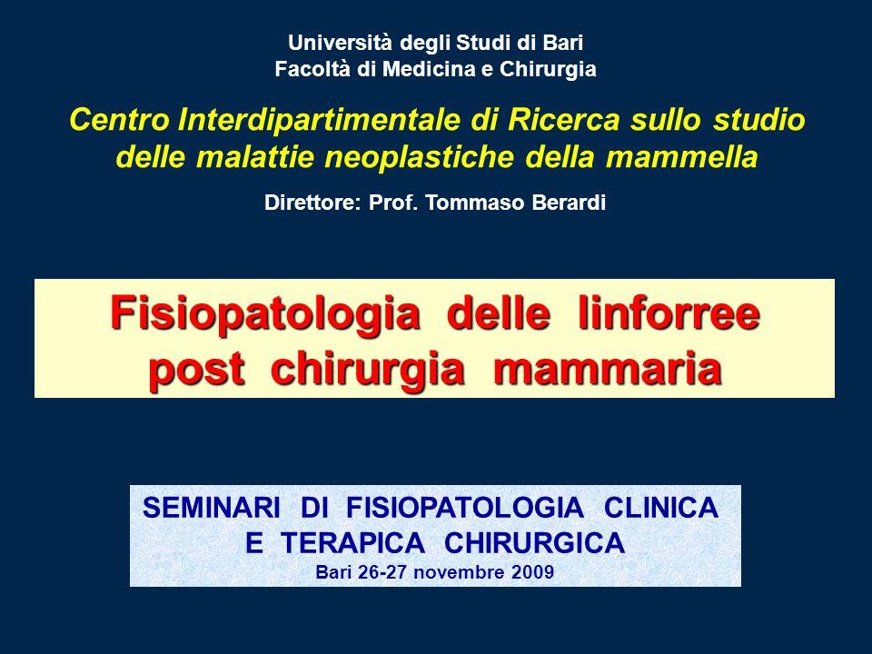 Fisiopatologia delle linforree post chirurgia mammaria