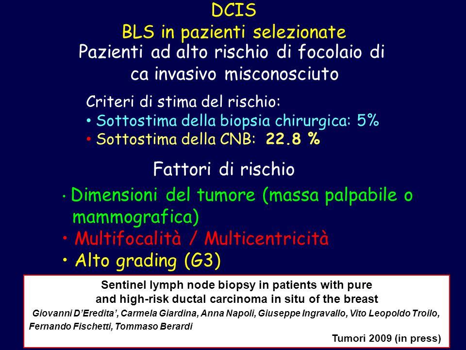 DCIS BLS in pazienti selezionate