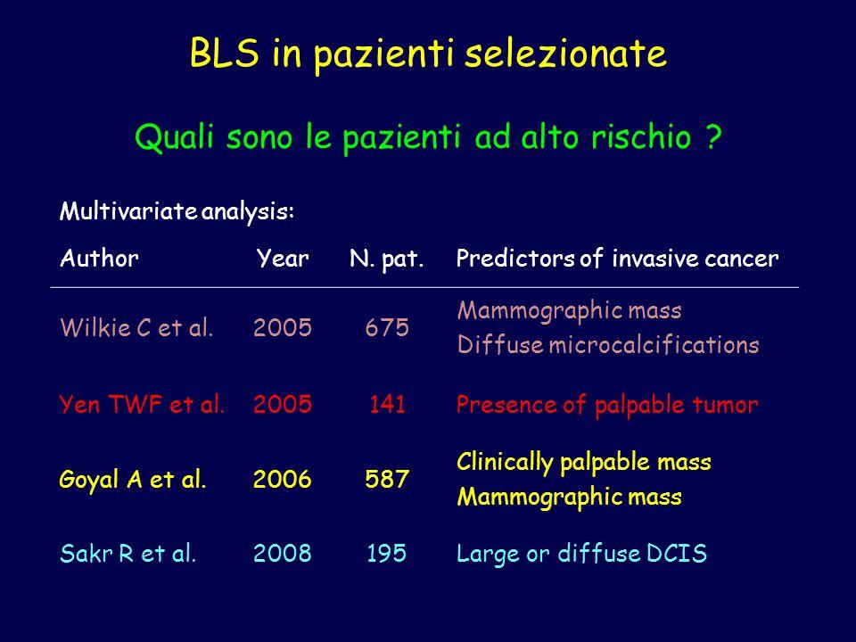 BLS in pazienti selezionate