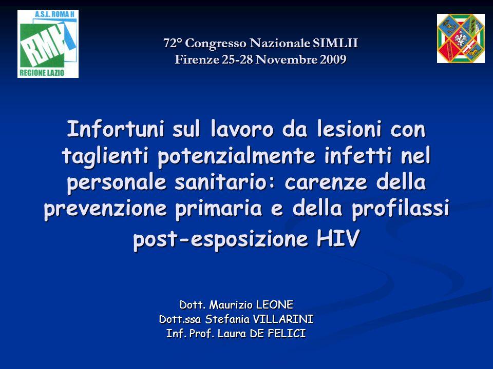 72° Congresso Nazionale SIMLII Firenze 25-28 Novembre 2009