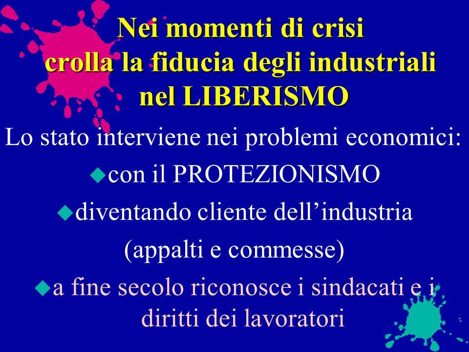 Nei momenti di crisi crolla la fiducia degli industriali nel LIBERISMO
