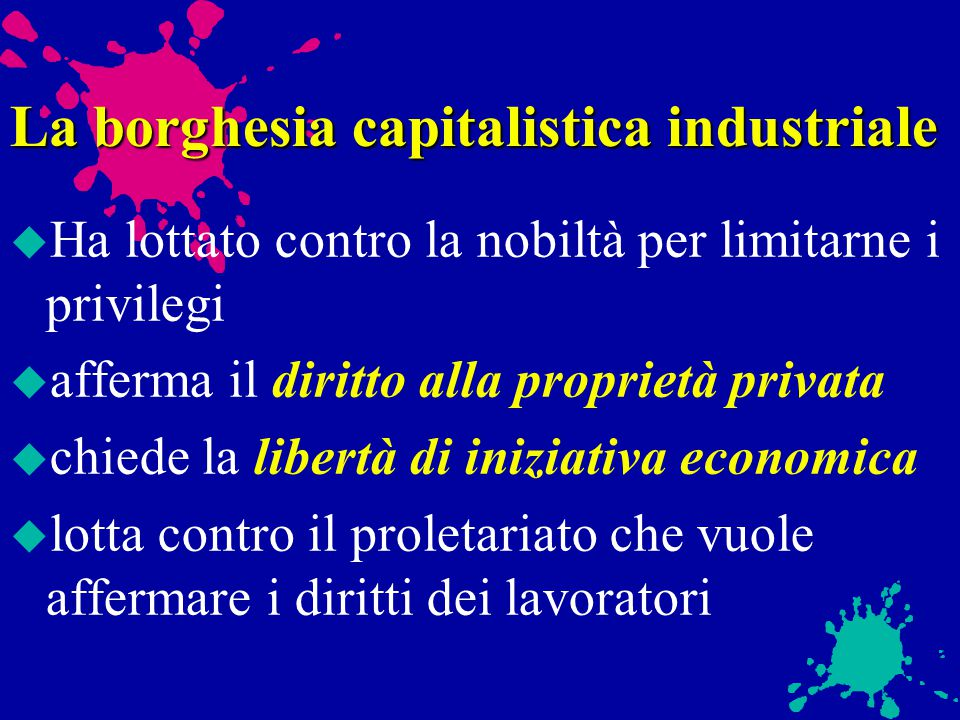 La borghesia capitalistica industriale