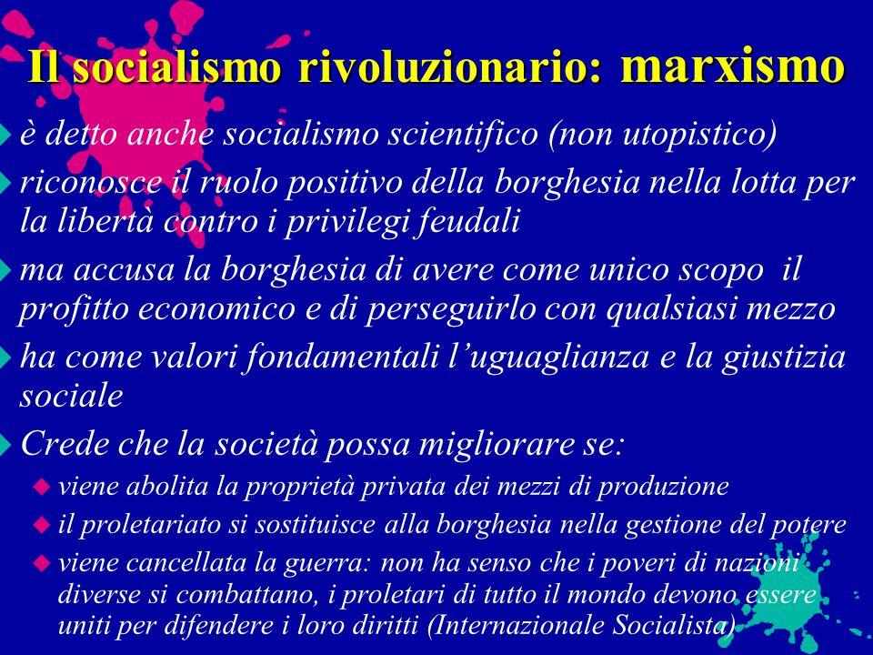 Il socialismo rivoluzionario: marxismo