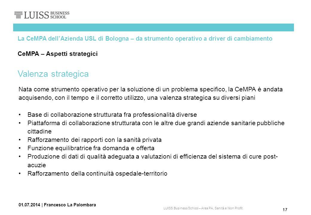 Valenza strategica CeMPA – Aspetti strategici