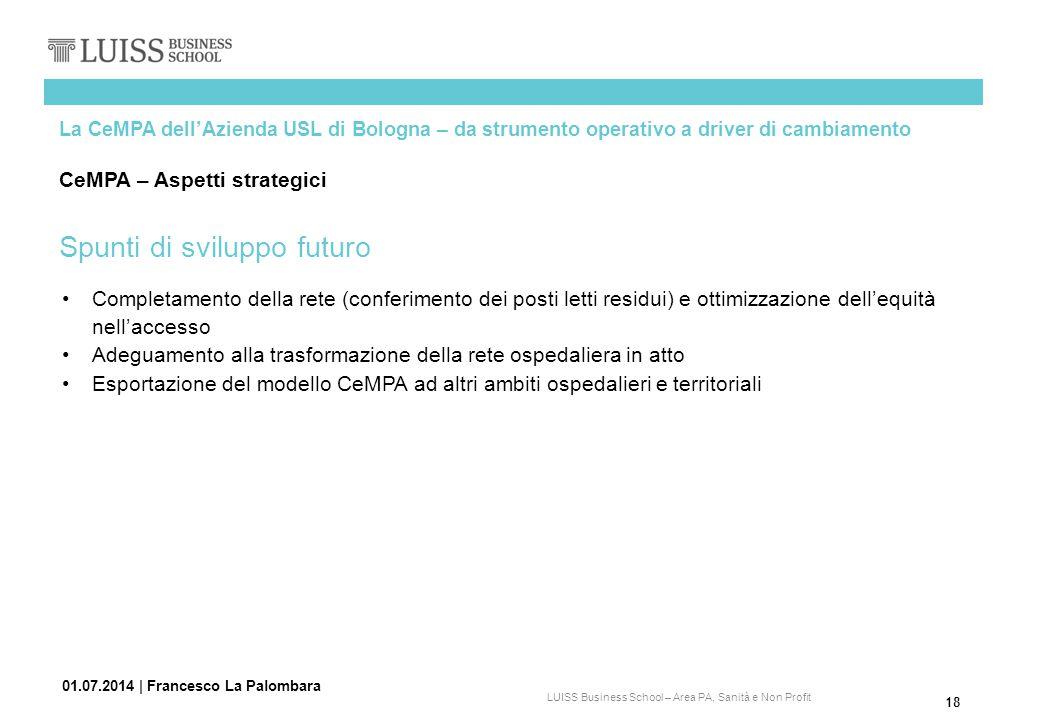 Spunti di sviluppo futuro