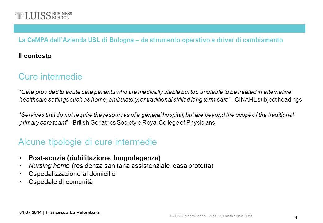 Alcune tipologie di cure intermedie
