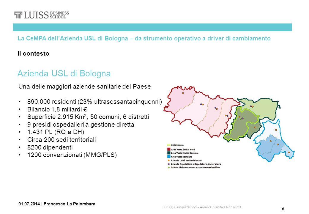 Azienda USL di Bologna Il contesto