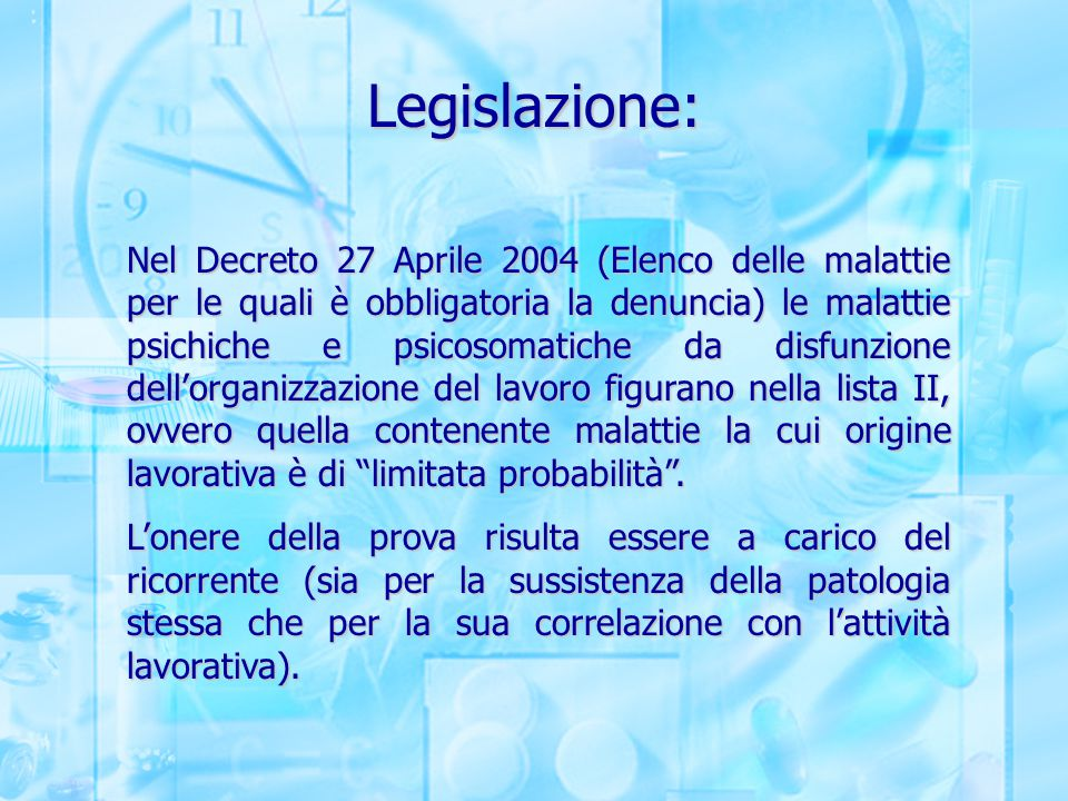 Legislazione: