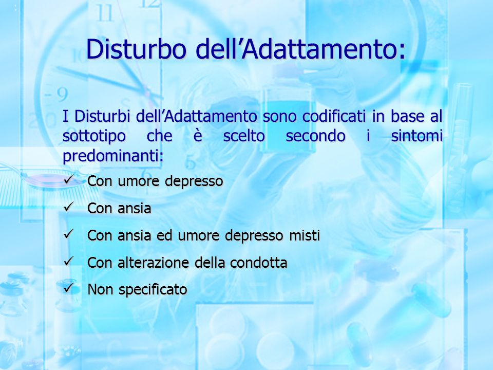 Disturbo dell'Adattamento: