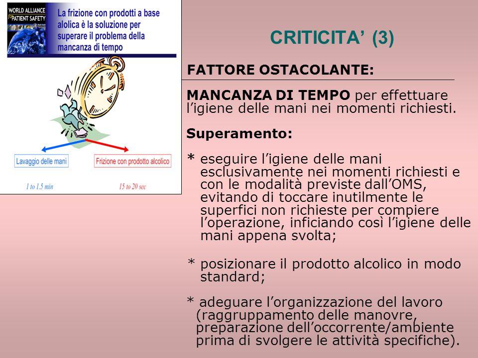 CRITICITA' (3)