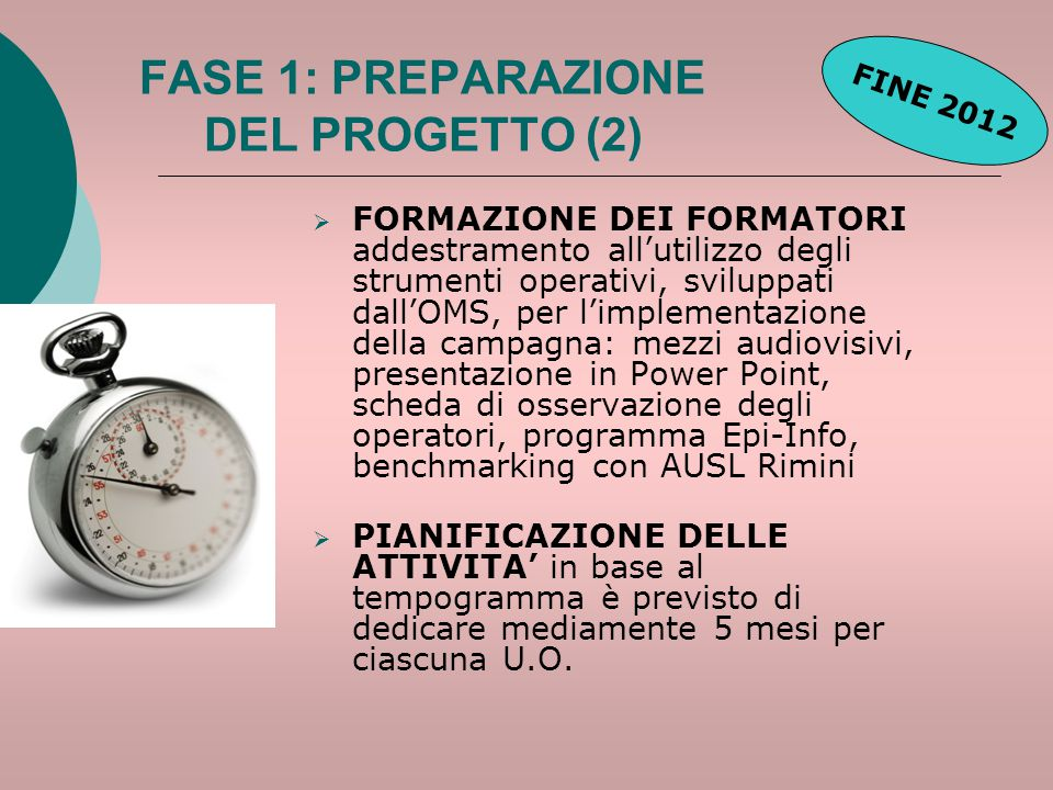 FASE 1: PREPARAZIONE DEL PROGETTO (2)