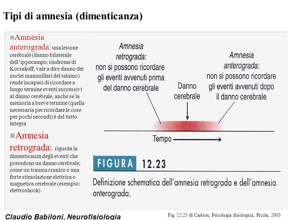 Tipi di amnesia (dimenticanza)