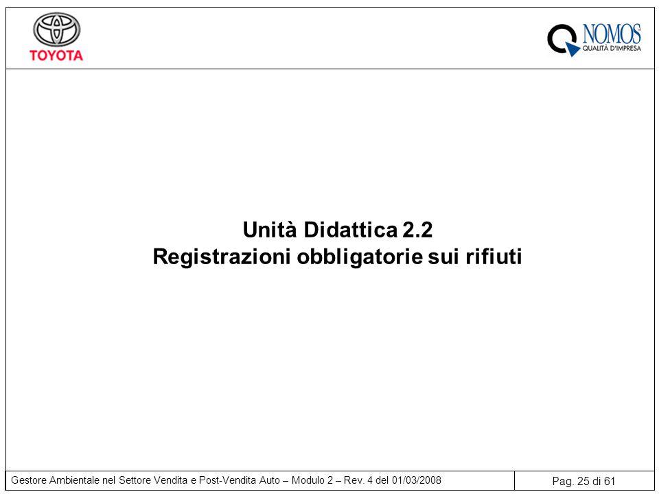 Registrazioni obbligatorie sui rifiuti