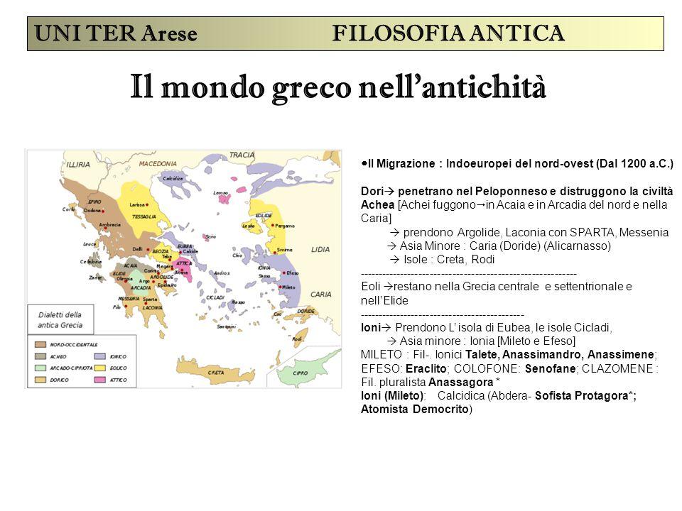 Il mondo greco nell'antichità