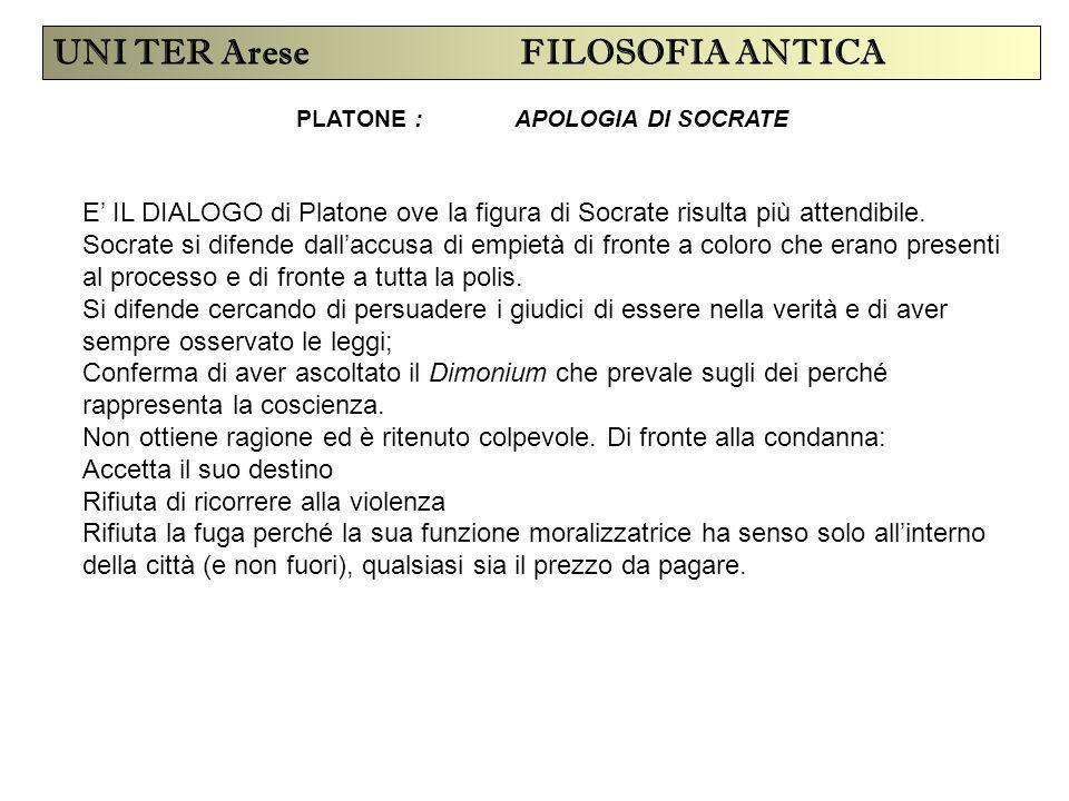 PLATONE : APOLOGIA DI SOCRATE