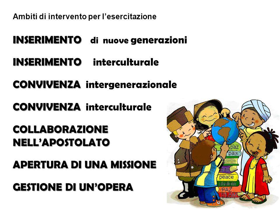 INSERIMENTO di nuove generazioni INSERIMENTO interculturale