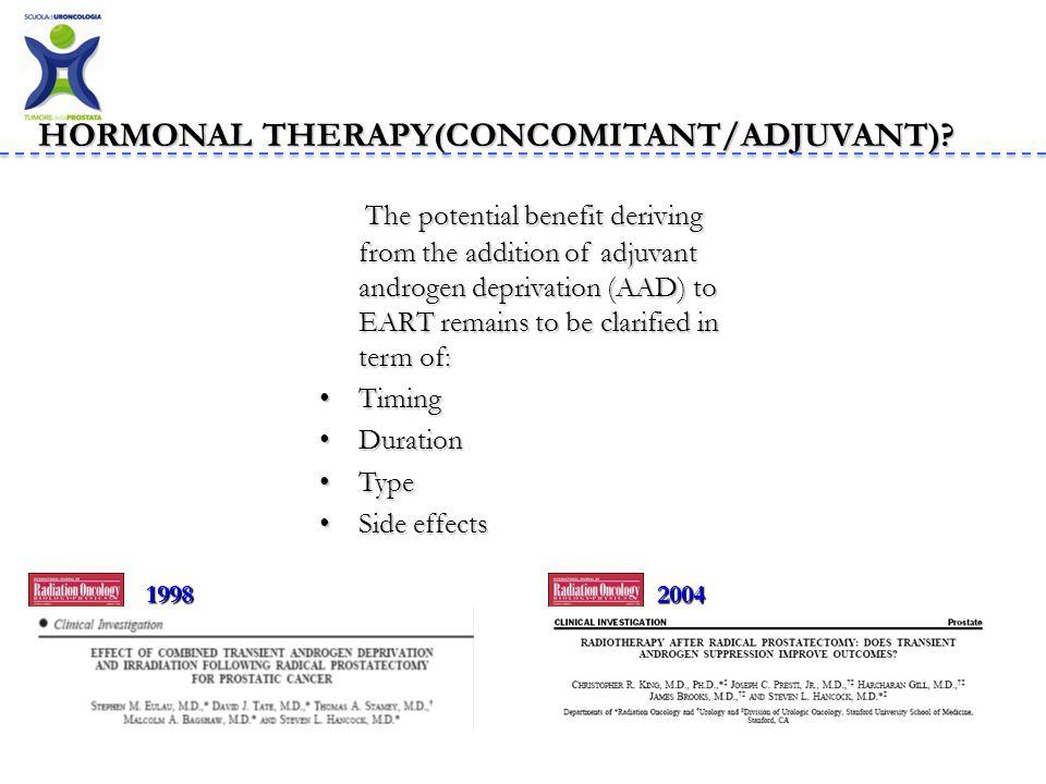 HORMONAL THERAPY(CONCOMITANT/ADJUVANT)