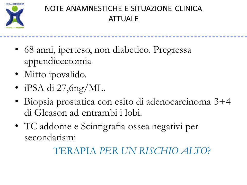 NOTE ANAMNESTICHE E SITUAZIONE CLINICA ATTUALE