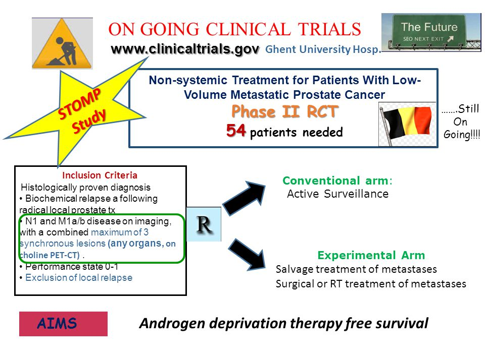 Androgen deprivation therapy free survival