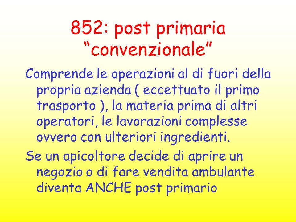 852: post primaria convenzionale