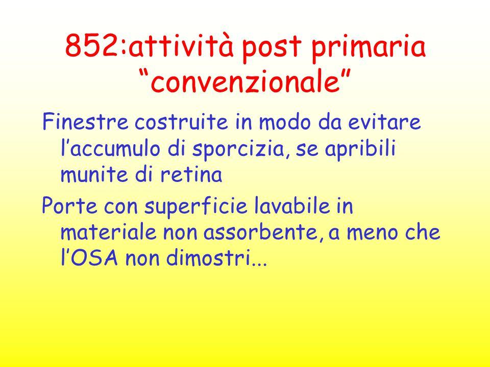 852:attività post primaria convenzionale
