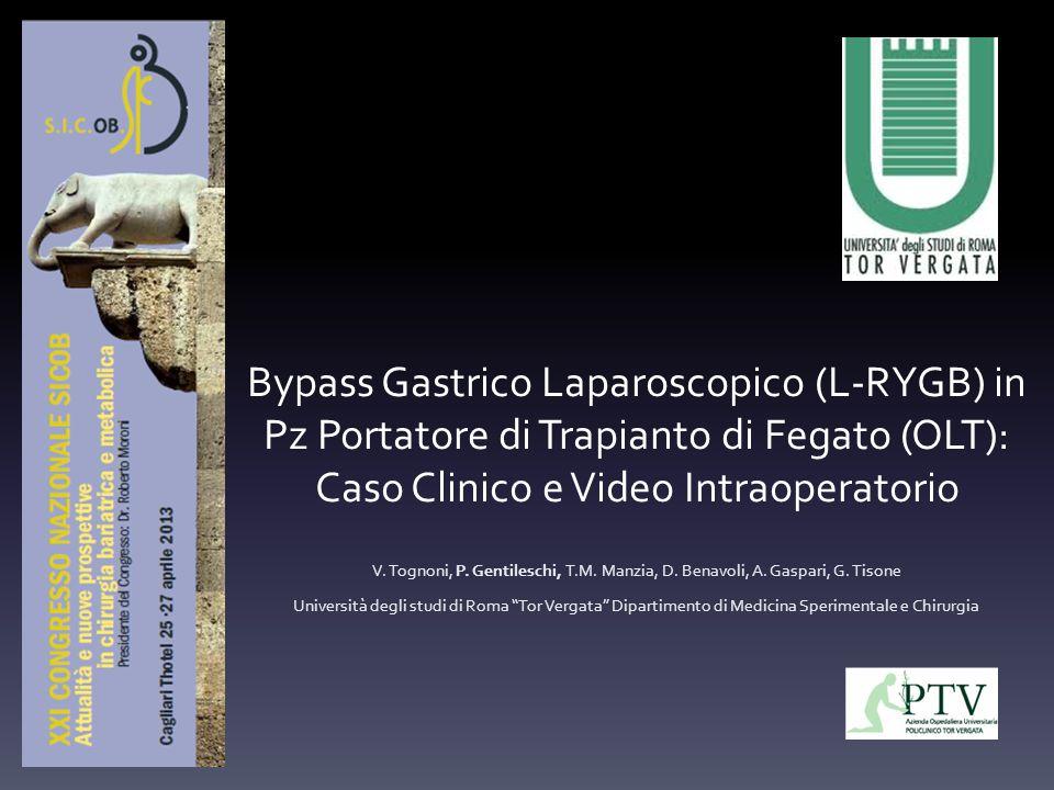 Bypass Gastrico Laparoscopico (L-RYGB) in Pz Portatore di Trapianto di Fegato (OLT): Caso Clinico e Video Intraoperatorio