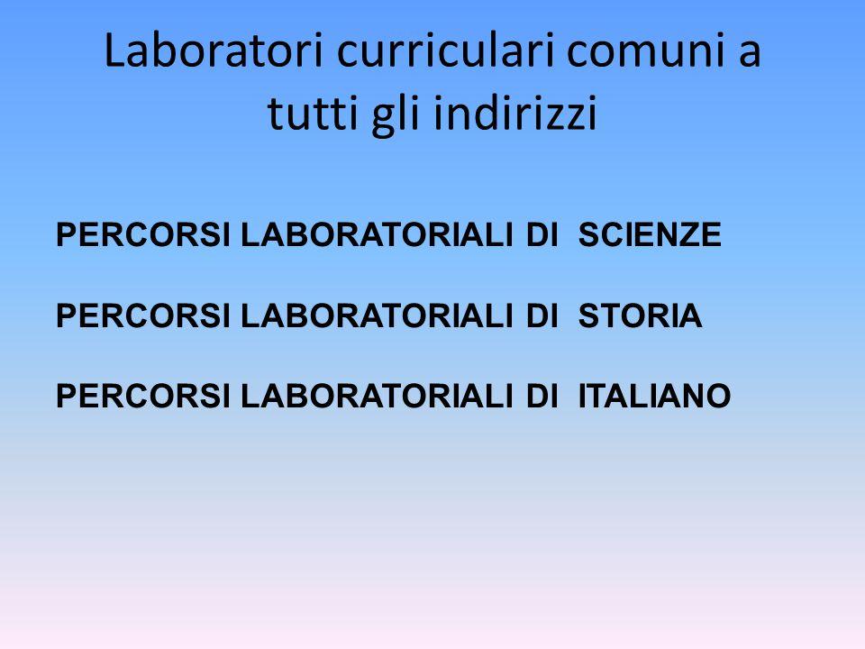 Laboratori curriculari comuni a tutti gli indirizzi